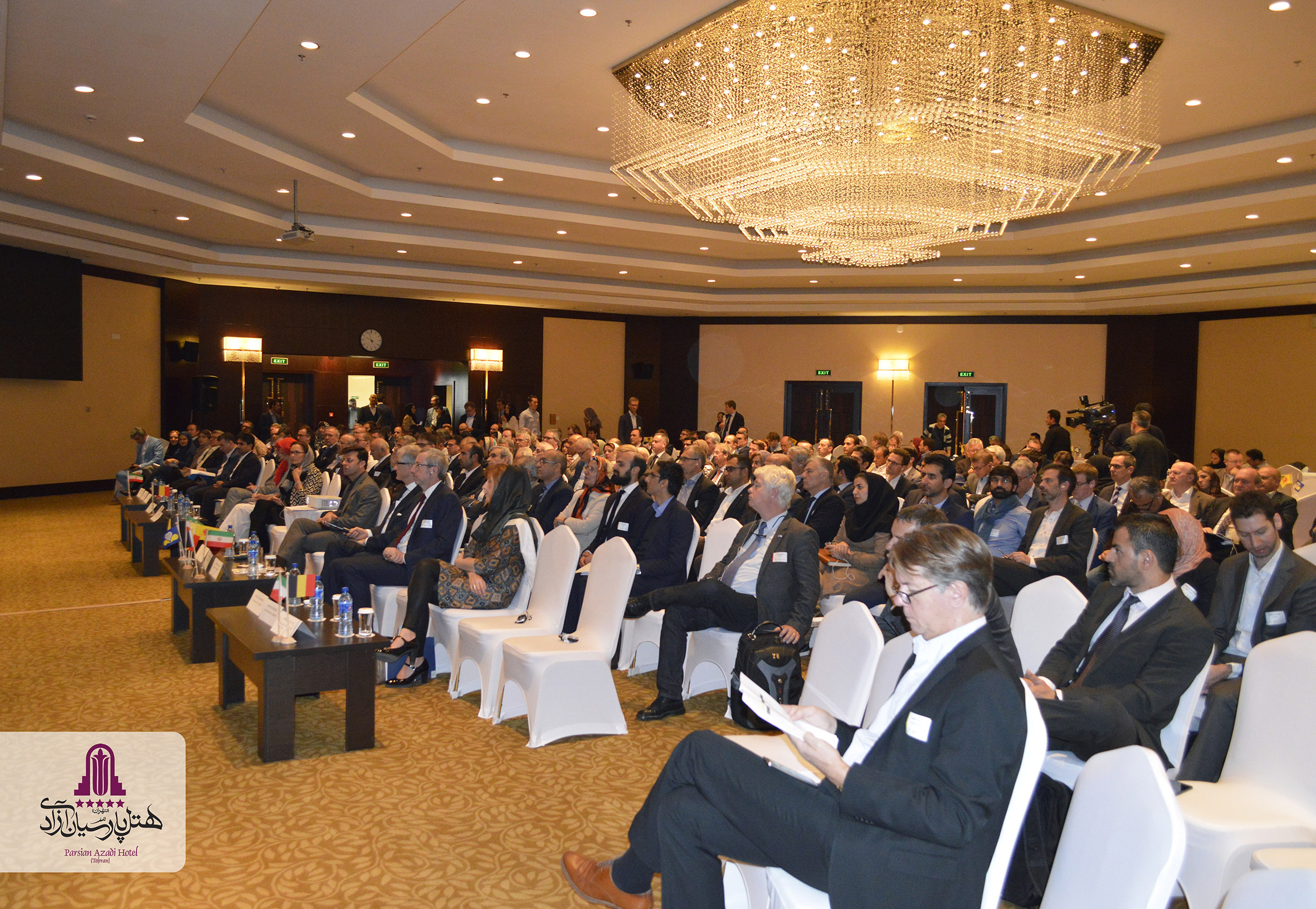 Great Commercial Conference of Iran and Belgium at Parsian Azadi Hotel